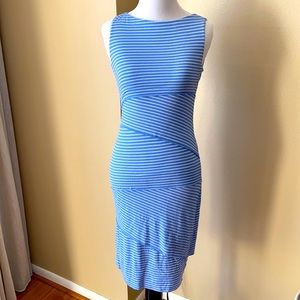 Bailey 44 Blue and White Striped Dress